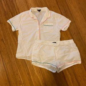 J.Crew end-on-end cotton pajama short set